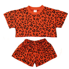 Load image into Gallery viewer, Leopard T-shirt and Short Set, Brick Red