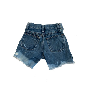 Rustler Denim Cut Off Shorts, Bleach Dipped (size 10 slim)