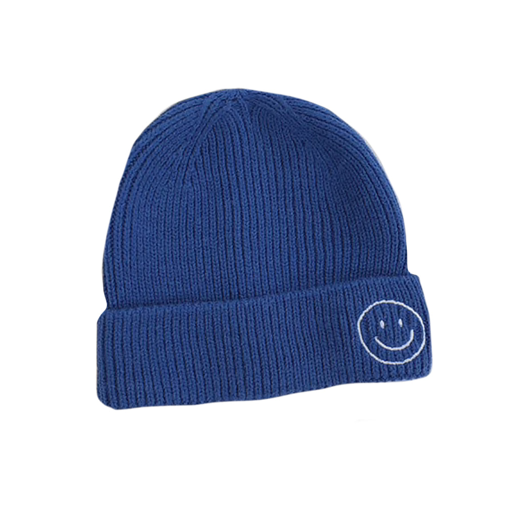 Harlow Knit Beanie, Electric Blue