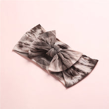 Load image into Gallery viewer, Tie Dye Nylon Bow, Ash