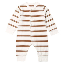 Load image into Gallery viewer, Retro Stripe Romper, Brown