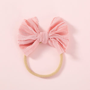 Nylon Baby Bow, Peach