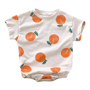 Clementine Bubble Romper, White