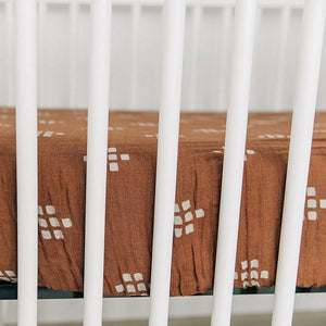 Crib Sheet, Chestnut Textiles