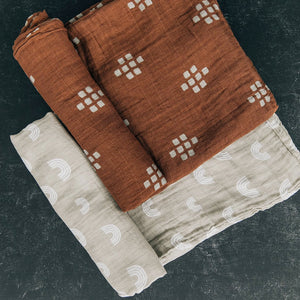 Muslin Swaddle, Chestnut Textiles