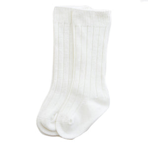 Knee Socks, Soft White