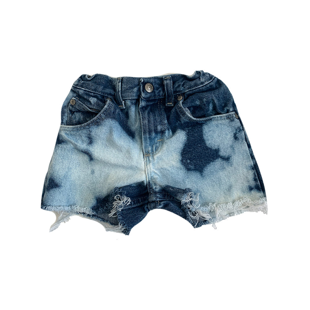 Wrangler Denim Cut Off Shorts, Blue Bleached (size 6)