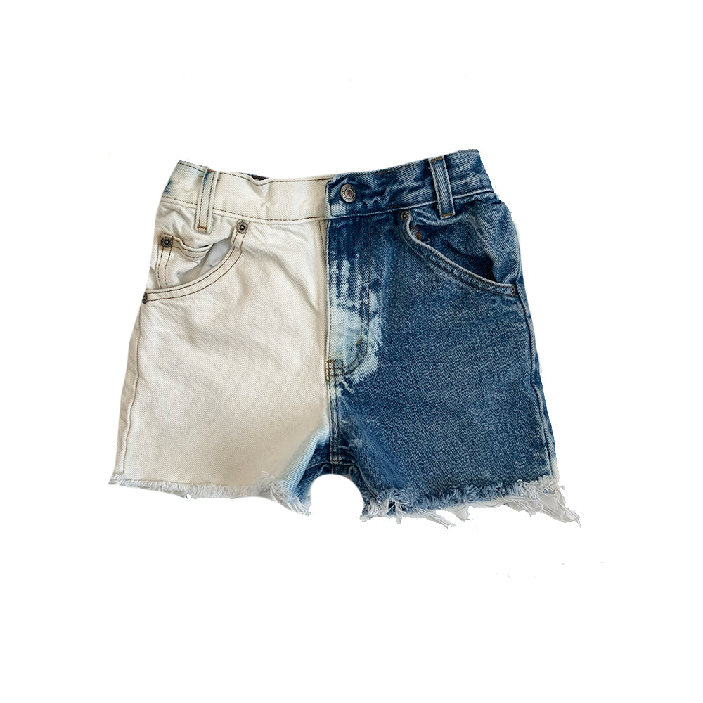 Arizona Denim Cut Off Shorts, Two Tone (size 7)