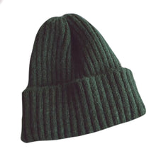 Load image into Gallery viewer, Warm Knitted Beanie, Hunter Green
