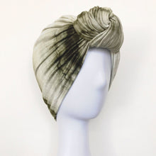 Load image into Gallery viewer, Retro Knot Turban, Olive Tie Dye