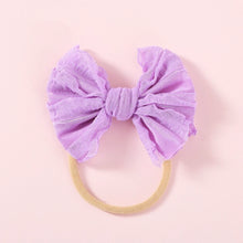 Load image into Gallery viewer, Nylon Baby Bow, Amethyst