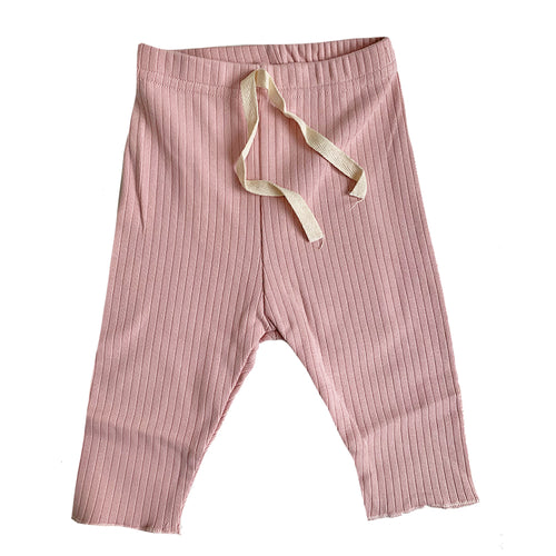 Ribbed Baby Leggings, Pink