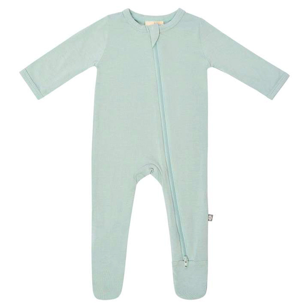 Bamboo Zippered Footie, Sage