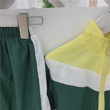 Load image into Gallery viewer, Track Suit Set, Yellow/Green