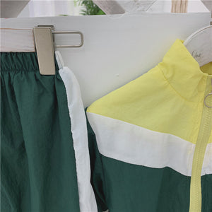 Track Suit Set, Yellow/Green
