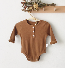 Load image into Gallery viewer, Ribbed Baby Bodysuit, Golden