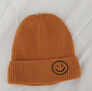 Harlow Knit Beanie, Bright Orange