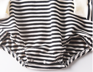 Hooded Bodysuit, Stripe