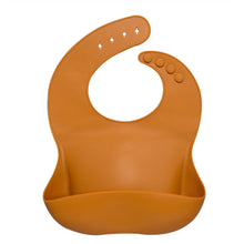 Load image into Gallery viewer, Silicone Baby Bib, Apricot