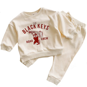 Black Keys Lounge Sweatsuit, Cream