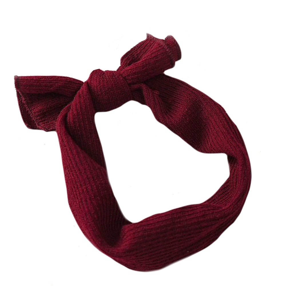 Knit Headwrap, Burgundy