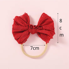 Load image into Gallery viewer, Nylon Baby Bow, Peach