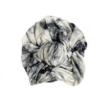 Load image into Gallery viewer, Retro Knot Turban, Ink Tie Dye
