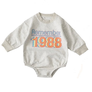 Lounge Romper, Remember 88's Grey