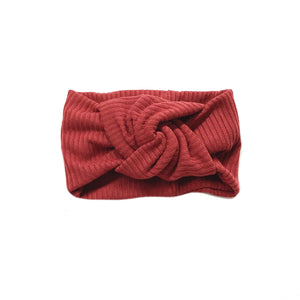 Twist Knot Headband, Rust