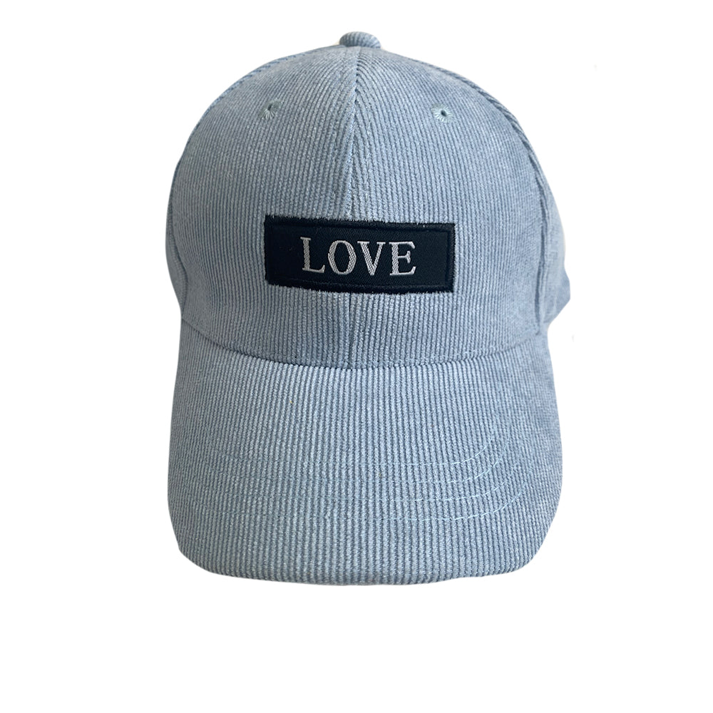 LOVE Baseball Hat, Soft Blue