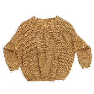 Harlow Knit Sweater, Golden Rod