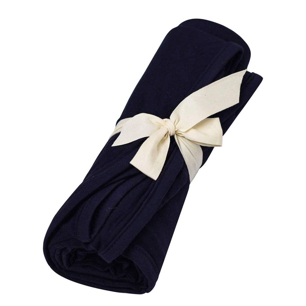 Bamboo Swaddle Blanket, Navy