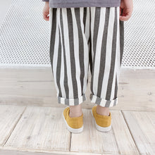 Load image into Gallery viewer, Harem Trousers, Grey Stripe