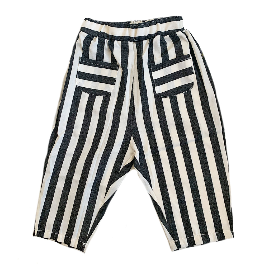 Harem Trousers, Grey Stripe