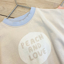 Load image into Gallery viewer, Comfy Romper, Peach & Love