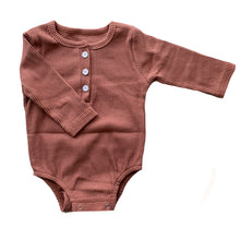 Load image into Gallery viewer, Ribbed Baby Bodysuit, Dusty Mauve