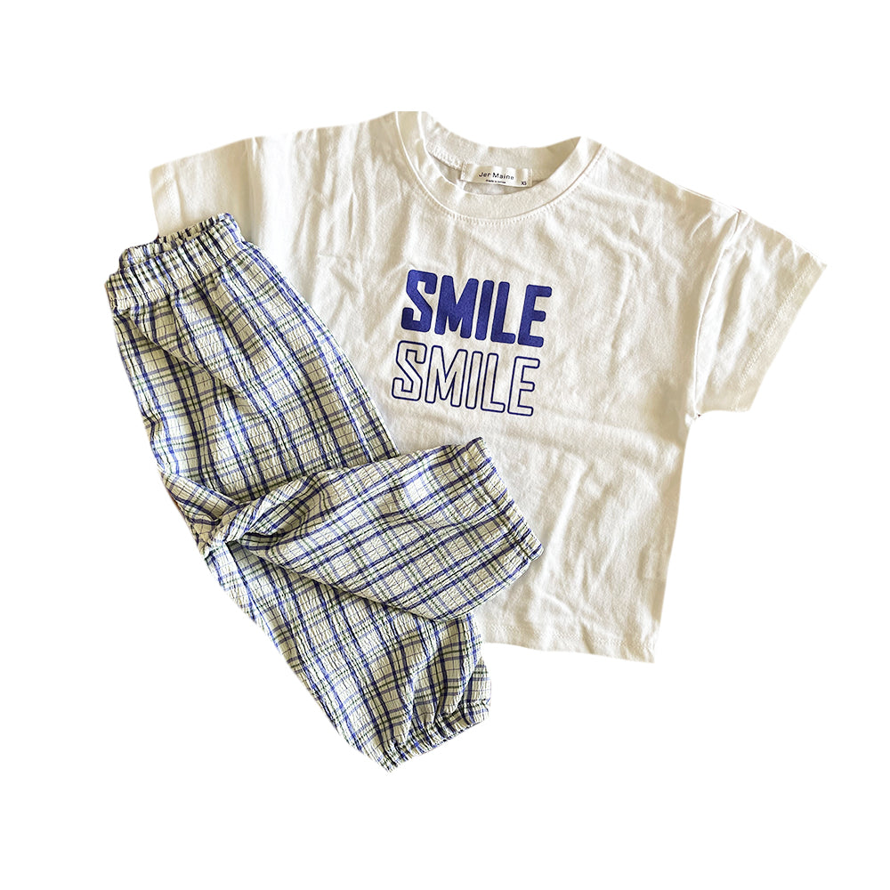 Smile Ragged Set, Blue