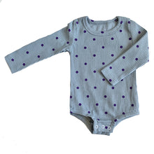Load image into Gallery viewer, Polka Dot Ribbed Bodysuit, Spruce