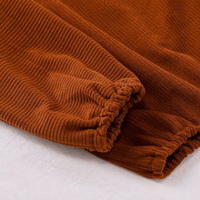 Load image into Gallery viewer, Velour Ribbed Two Piece Set, Chestnut
