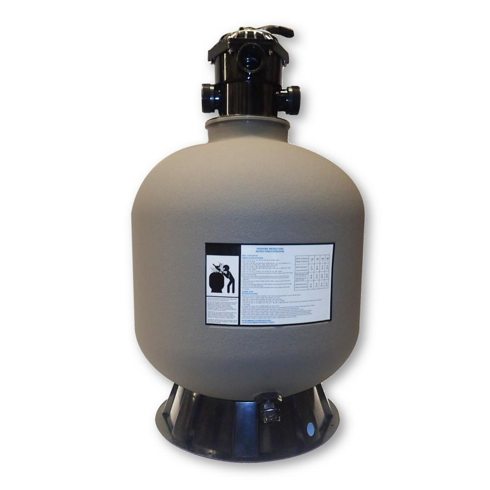 Model 72200 22 Inch Sand Filter Tank with 6 Way Valve and Base