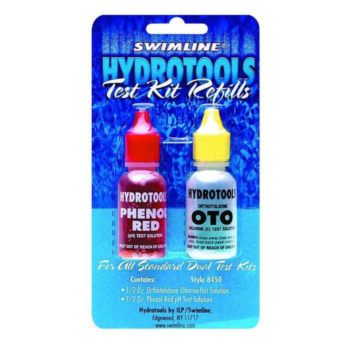 Hydrotools Replacement 0.5 Oz OTO Chlorine Test & Phenol Red Solutions