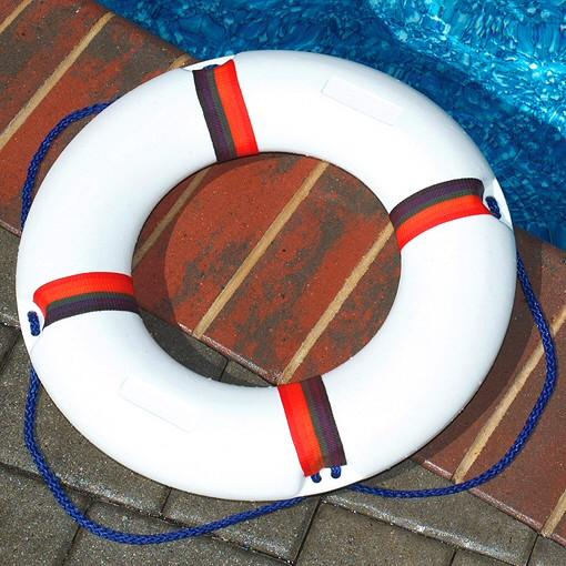 "Swimming Pool 22"" Diameter Molded Safety Ring Buoy"