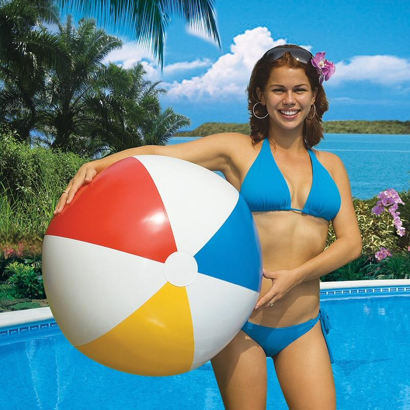 "Inflatable Pool Toys Classic 36"" Diameter Beach Ball - Grizzly Supply Co"