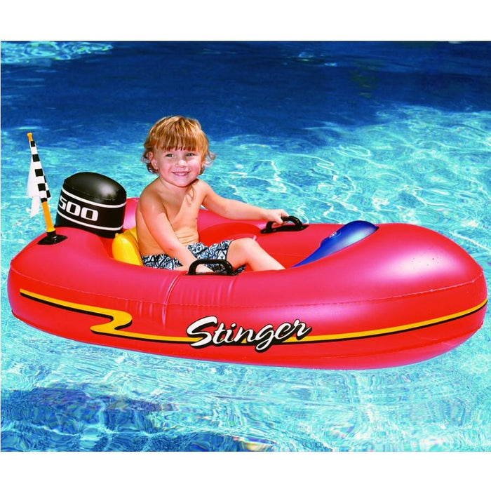 Inflatable Swimming Pool Ride-On Speedboat for Kids