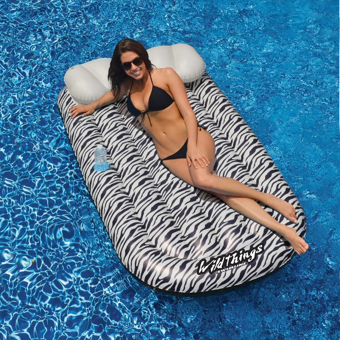 Wild Things Zebra Inflatable Pool Lounge Mat