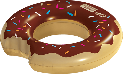 Wham-O Splash Inflatable Chocolate Donut Swimming Pool Ring Float