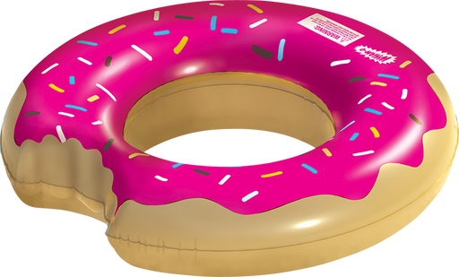 Wham-O Splash Inflatable Strawberry Donut Swimming Pool Ring Float