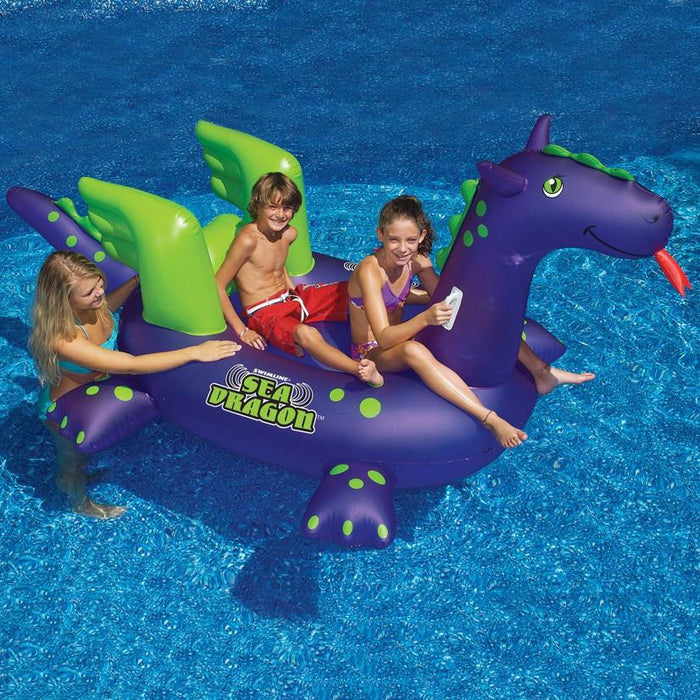 Inflatable Pool Toys Swimline Sea Dragon Ride On - Grizzly Supply Co