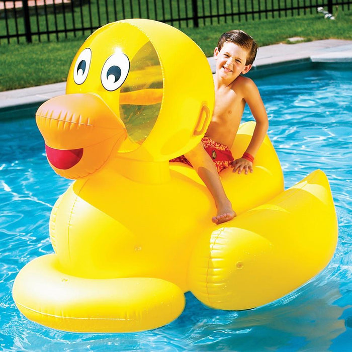 Swimline Giant Inflatable Ride-on Pool Ducky
