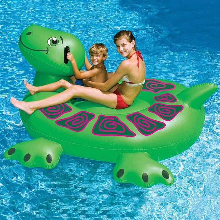 Inflatable Pool Toys Swimline Giant Turtle Inflatable Pool Ride-on - Grizzly Supply Co